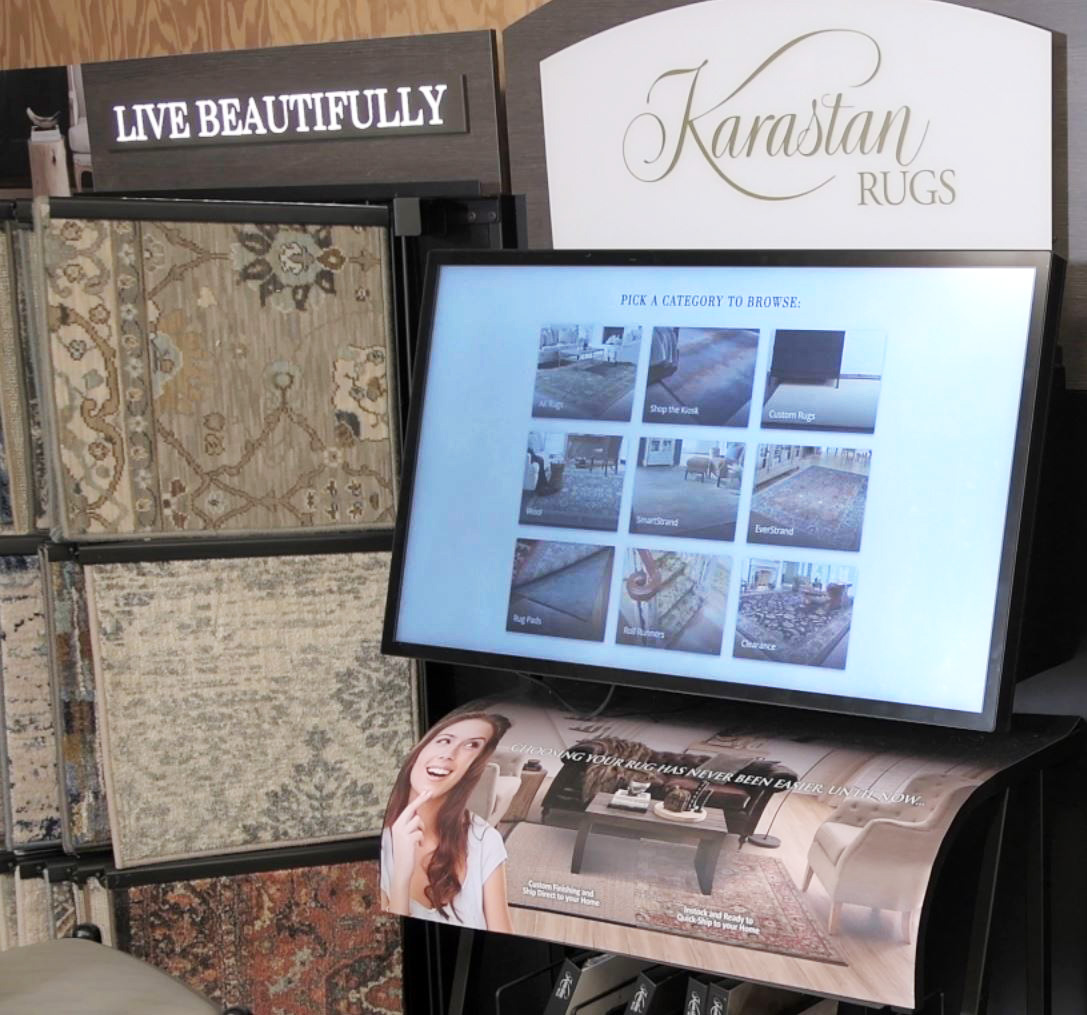 Williams Carpet & Flooring Outlet in-store shopping screen